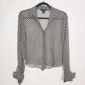 Kenneth Cole polka dot silk blouse